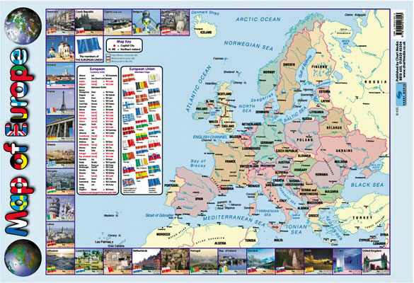 Map Of Europe Poster Little Linguist