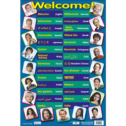 Multilingual Welcome Poster