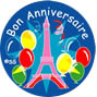 French Birthday Stickers - Bon Anniversaire (Pack of 125)