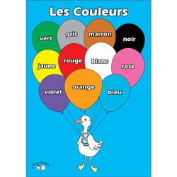 French Vocabulary Poster: Les Couleurs (A3)
