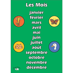 French Vocabulary Poster: Les Mois (A3)