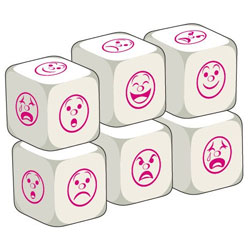 Talking Dice Add-Ons - Moods / Emotions (Set of 6)