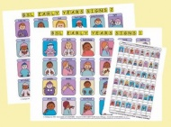 Let's Sign BSL Early Years & Baby Signs: A3 Poster Set