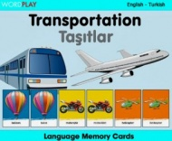 Language Memory Cards – Transport (Turkish - English)