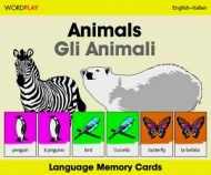Language Memory Cards – Animals (Italian - English)
