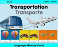 Language Memory Cards – Transport (Spanish - English)