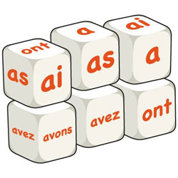 French Word Dice - Avoir (Set of 6)