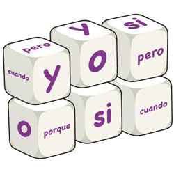 Spanish Word Dice - Conjunctions (Set of 6)