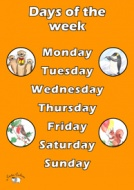 English Poster (A3) - Days of the Week