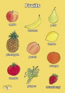 English Poster (A3) - Fruits