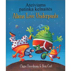 Aliens Love Underpants - Lithuanian & English