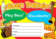 Spanish Merit Certificates (Pack of 20) - Buen Trabajo