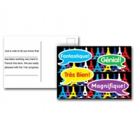 French Reward Postcards - Praise Words (Pack of 20)
