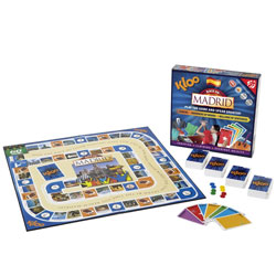 KLOO Spanish Games - Race to Madrid Board Game
