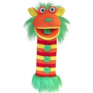 Sockette Glove Puppet - Buttons (Red / Orange/ Yellow / Green)
