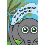 Italian Birthday Card - Elephant Design
