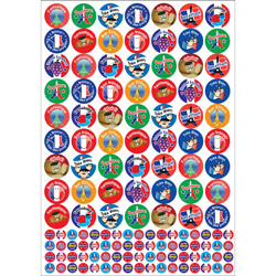 French Reward Stickers (10 Sheet Value Pack)