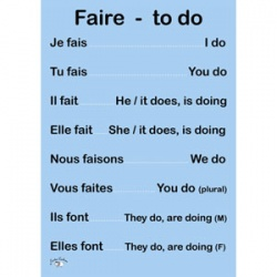 French Verb Poster (A3) - Faire