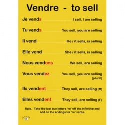 French Verb Poster (A3) - RE Verbs - Vendre