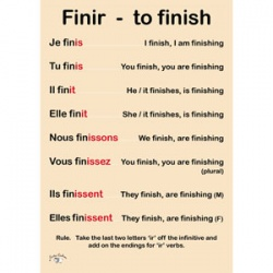 French Verb Poster (A3) - IR Verbs - Finir