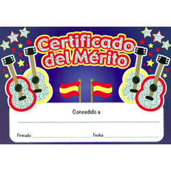 Spanish Merit Certificates (Pack of 20) - Sparkling