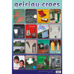 Welsh Poster - Geiriau Croes (Opposites)