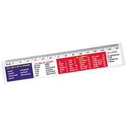French Reward Rulers : Days, Months And Numbers - Pack of 12