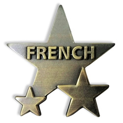 French Badge: Metal Star (Single)