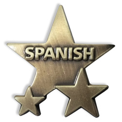 Spanish Badge: Metal Star (Single)
